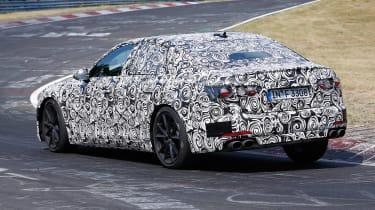 2018 Audi S6 spied - rear 3/4 3