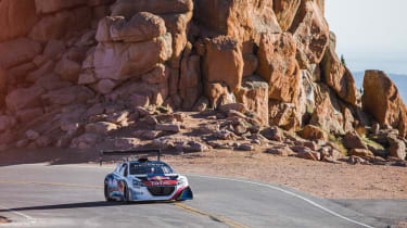 Peugoet 208 T16 video at Pikes Peak