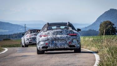 Mercedes SL spy 2020 - pan