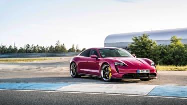 2022 Porsche Taycan – front quarter