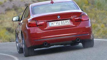 New BMW 4-series coupe red rear