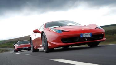 Ferrari 458 Italia beats McLaren MP4-12C