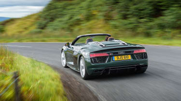 Audi R8 V10 Plus Spyder – rear quarter