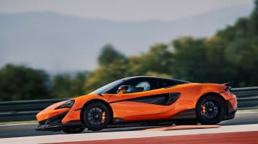 McLaren 600LT first drive - kerb