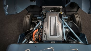 Jaguar E-type Zero engine bay