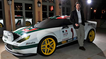 New Lancia Stratos in Alitalia rally delivery