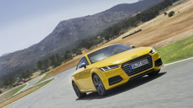 Audi TT S Coupe on track