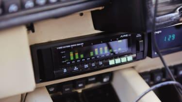 1980s Alpine graphic equalizer and cassette player in the Lamborghini Countach