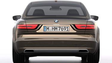 BMW CS Vintage Concept brown rear