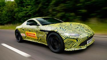 New 2018 Aston Martin Vantage spy shots tracking