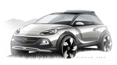 Vauxhall Adam Rocks concept car crossover convertible