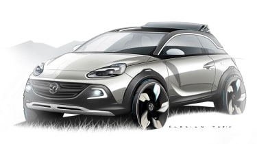 Vauxhall Adam Rocks concept car crossover convertible