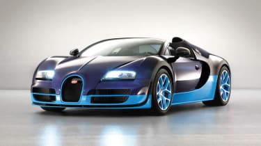 2012 Bugatti Veyron Vitesse blue two-tone