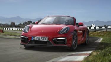 Porsche Boxster GTS on track