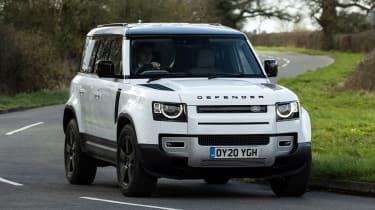 Land Rover Defender 110 P400 – front cornering