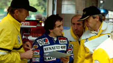 Alain Prost (middle) 1983