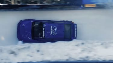 Subaru WRX STI bobsled run banked