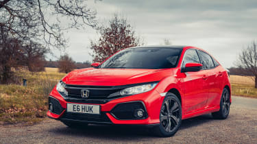 Honda Civic review - front tracking