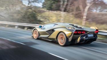 Lamborghini Sian - rear quarter