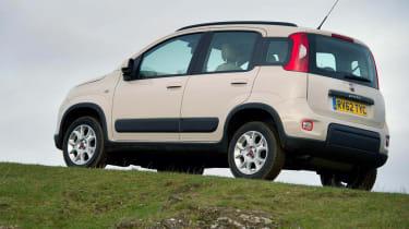 2013 Fiat Panda Trekking white rear