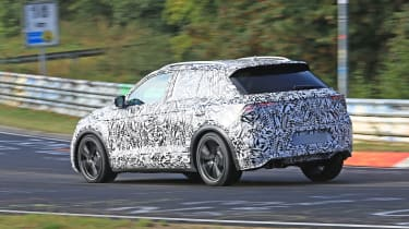Volkswagen T-Roc R prototype testing at the Nürburgring - rear
