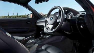 BMW 1M review interior dashboard