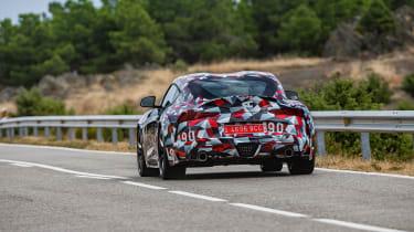 Toyota Supra proto drive - rear