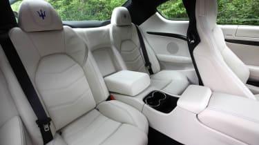 2012 Maserati GranTurismo Sport rear seats