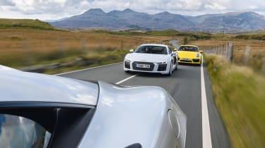 McLaren 540C, Porsche 911 Turbo, Audi R8
