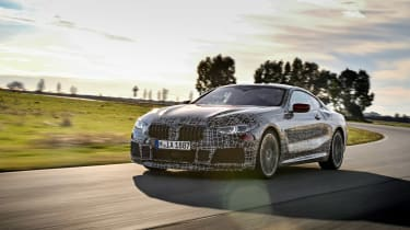 BMW 8 series official spy shots front