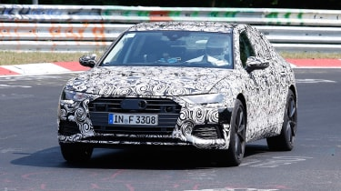 2018 Audi S6 spied - front