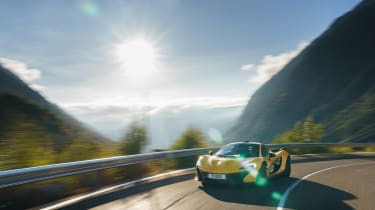 McLaren P1 yellow DS - front tracking