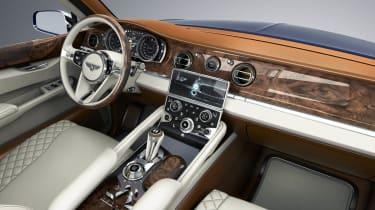 Bentley SUV interior dashboard