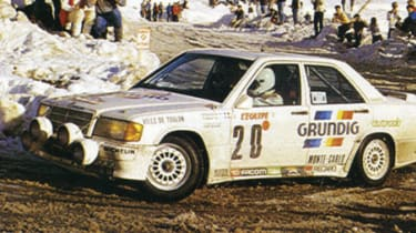 1987 Mercedes 190 E group A rally