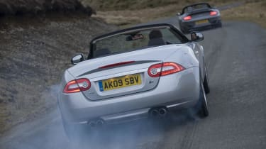 Jaguar does burnout