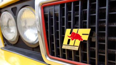 Lancia Delta Integrale Evo HF grille badge