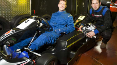 Armed forces link with electric go-kart track