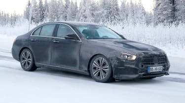 Updated 2019 Mercedes E-class spied – side