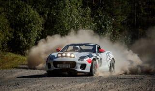 Jaguar F-Type rally car - front