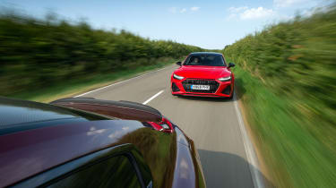 Audi RS7 vs M8 Comp GC - car to car