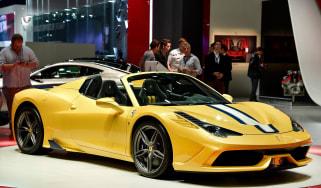 Ferrari 458 Speciale Aperta at the Paris motor show