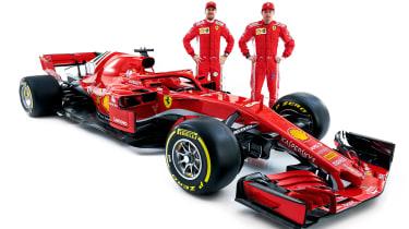 Ferrari F! 2018 car - drivers