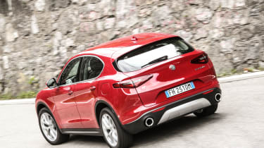 Alfa Romeo Stelvio (rear) on the Stelvio Pass