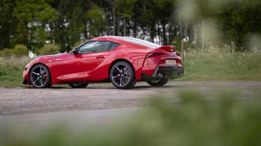 Toyota GR Supra review red DE - rear