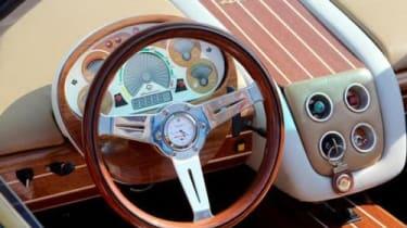 Montecarlo Rascasse supercar wood yacht interior