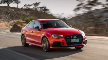 Audi RS3 Saloon Red front 4