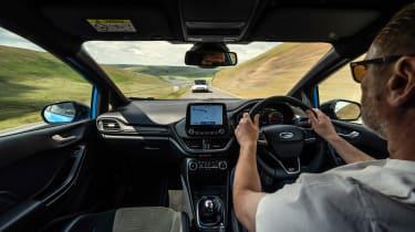 Tiddlers – interior driving Fiesta