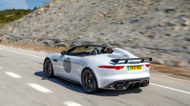 Jaguar F-Type Project 7 - white rear