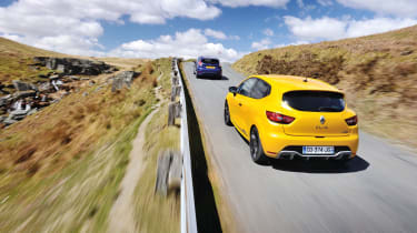 Clio chasing Ford Fiesta ST