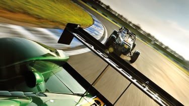 Caterhams on track